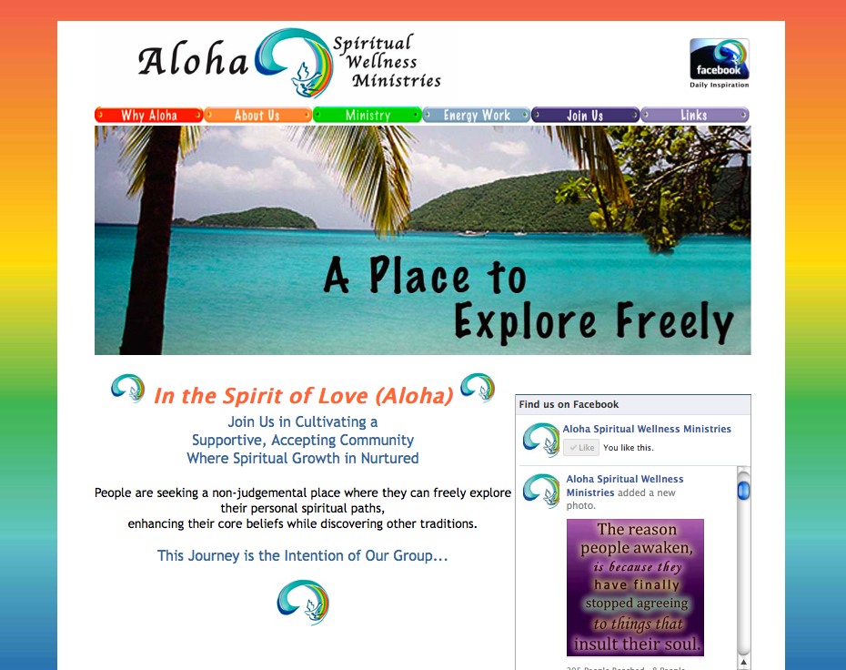 Aloha Spiritual Wellness Ministries website